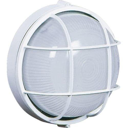 Round White nautical cage light #nauticallight #coastalstyle