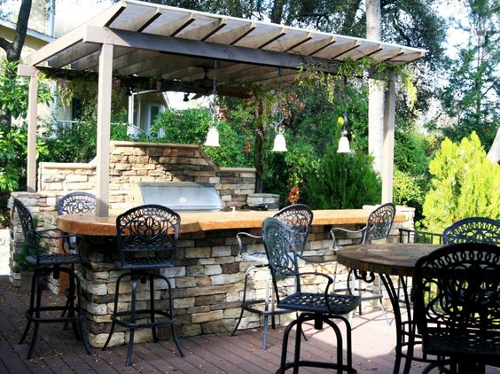 Outdoor Kitchen Ideas On A Budget Pictures Tips Ideas Decks Backya