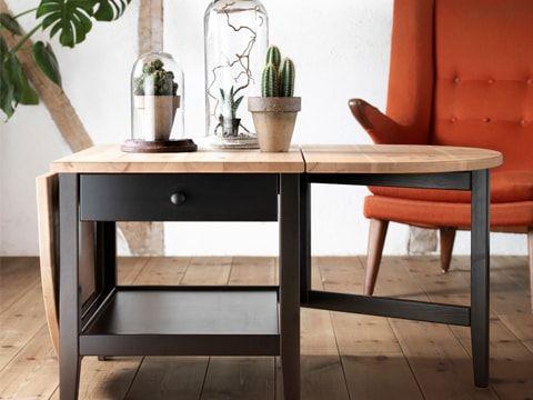 Table A Rabat Arkelstorp Noir Et Bois Table De Salon Table De Salon Design Table A Rabat