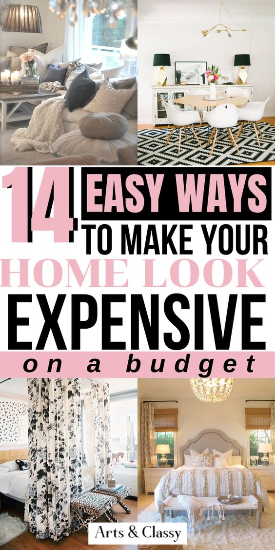 14 Easy ways to make your home look expensive on a budget. Easy budget decorating to make your home look high end on a modest budget - Make your home look more expensive | Make your home look more expensive diy budget | Make your home look more expensive ideas | Make your home look more expensive decor | Apartment decorating | Rental decorating | Rental decorating on a budget | Rental decorating house | Rental decorating apartment #budgetdecor #apartmentdecor