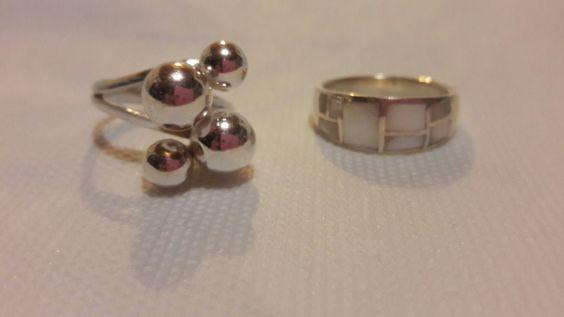 Anillo 4 bolas + anillo Nacar