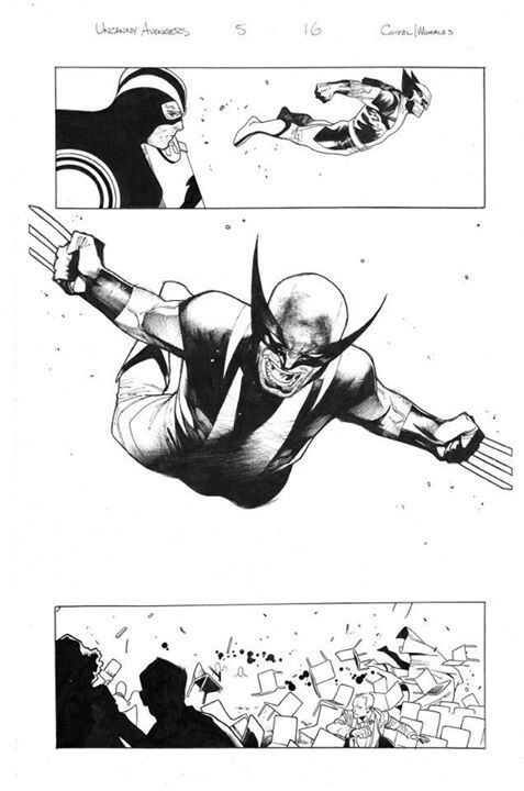 Uncanny Avengers #5 interiors by Olivier Coipel.