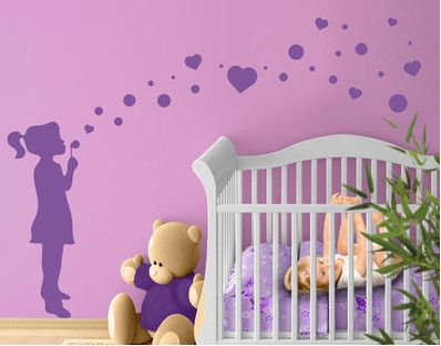 wall decal !!! SoAp BuBbLe GiRl !!