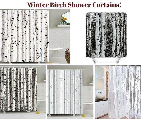 Winter Birch Shower Curtains