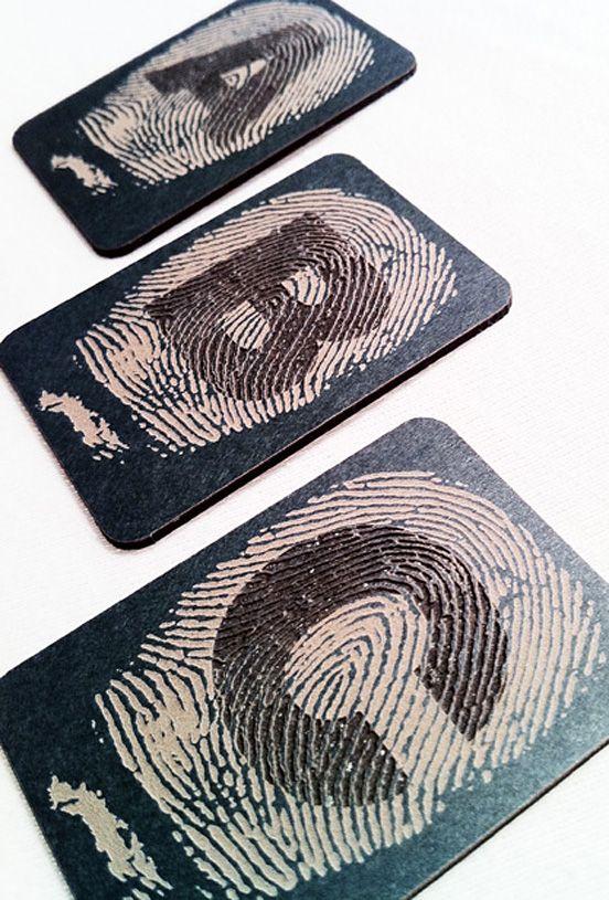 biz card / Fingerprint Alphabet