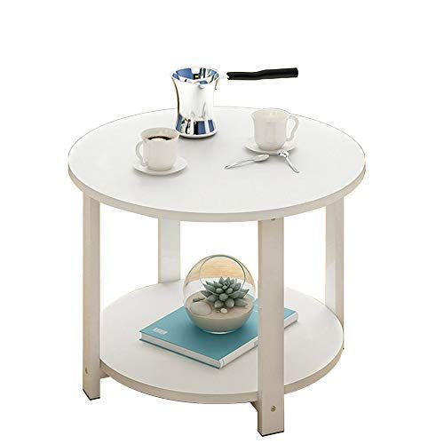 Dnsjb Computer Desk Sofa Side Table Coffee Table Round Small Round