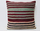 kilim pillow 24x24 large accent pillow large floor pillow 24x24 pillows novelty throw pillow striped pillow case turkish cushion cover 24902