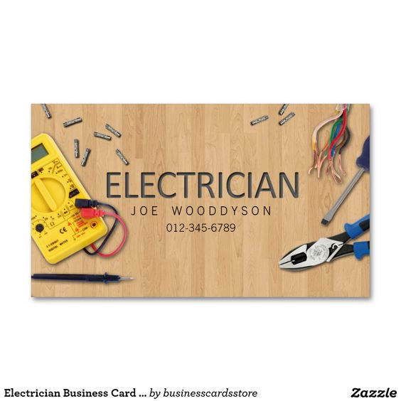 Electrical tools business and cards on pinterest for Electrician business card