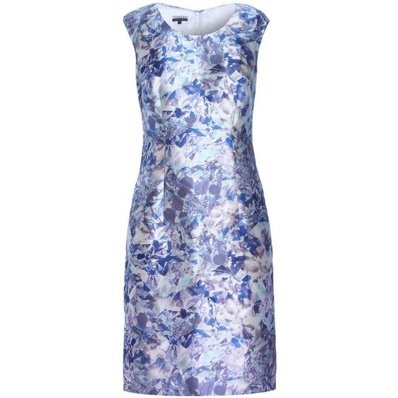 Diamond Print Shift Dress ❤ liked on Polyvore