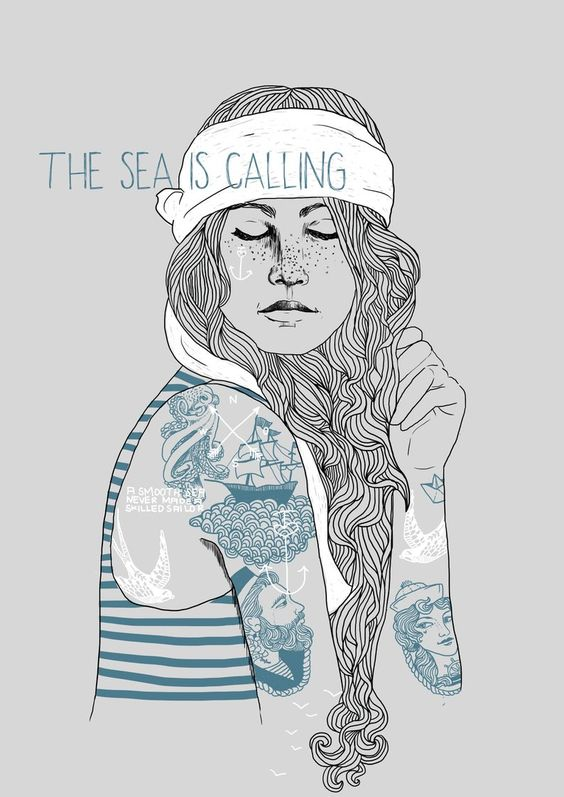 A3 Poster The Sea is calling | Etsy