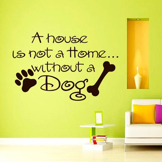 dog wall decal quotes the house is not a home without dod vinyl lettering animal decals dog stickers pet bed decor wall mural home art z587
