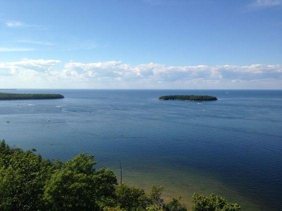 Incredible view from Door County, ...