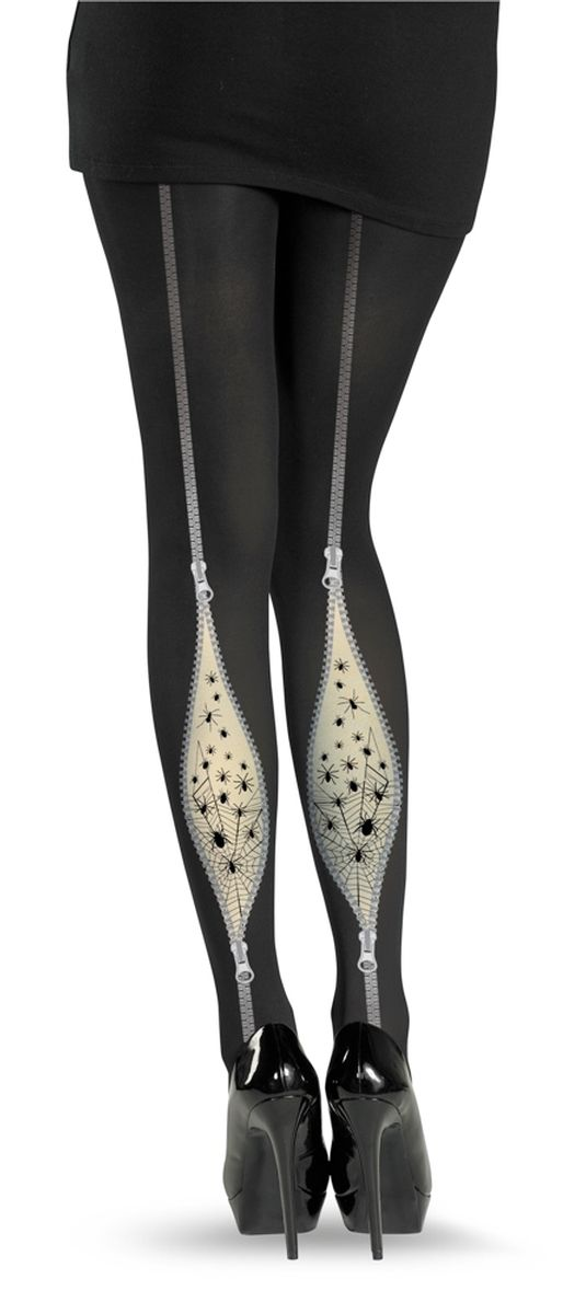 Spider Zip Boot Pantyhose - Witch Costume Accessory <-- costume accessory?!  I'd wear those any day of the week!
