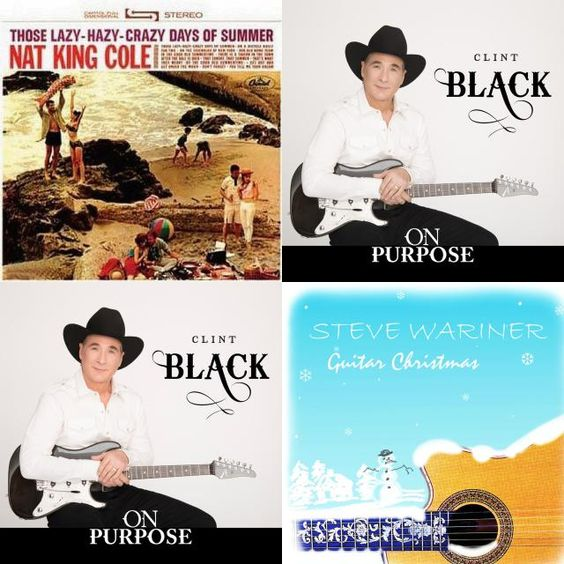 A playlist featuring Steve Wariner, Clint Black, Nat King Cole, and others