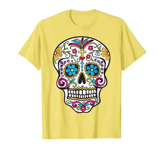 Dia de los Muertos ThreadzDay of the Dead Sugar Skull T-Shirt