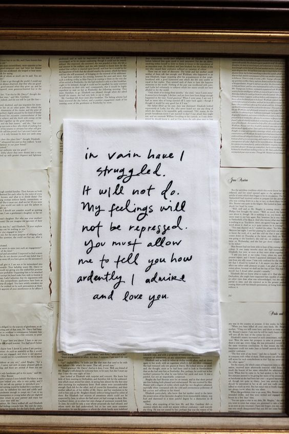 Darcy's Proposal Dishtowel | How To Nurture Your Jane Austen Obsession