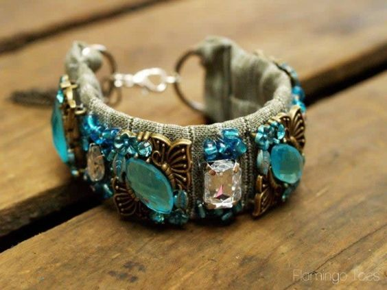 DIY: designer-inspired jeweled bracelet