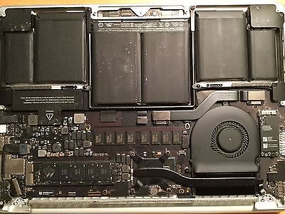 "2 Apple Macbook Pro Retina 13"" Early 2015 Logic Boards with Top Housing Case"