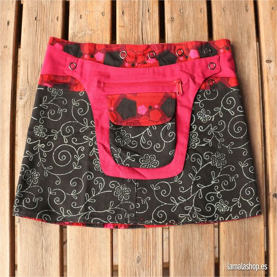 Minifalda reversible · Talla única · Con riñonera de quita y pon
