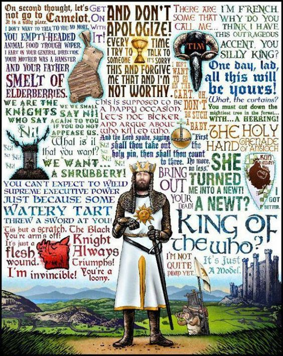 King of the Who: Monty Python & The Holy Grail tribute- signed print (by Chet Phillips) #montypython
