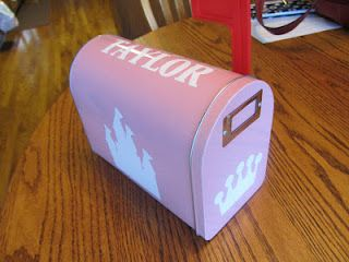 Treat Mailbox for the grandkids when they come to visit. Fill with small toys, candy, stickers, etc.