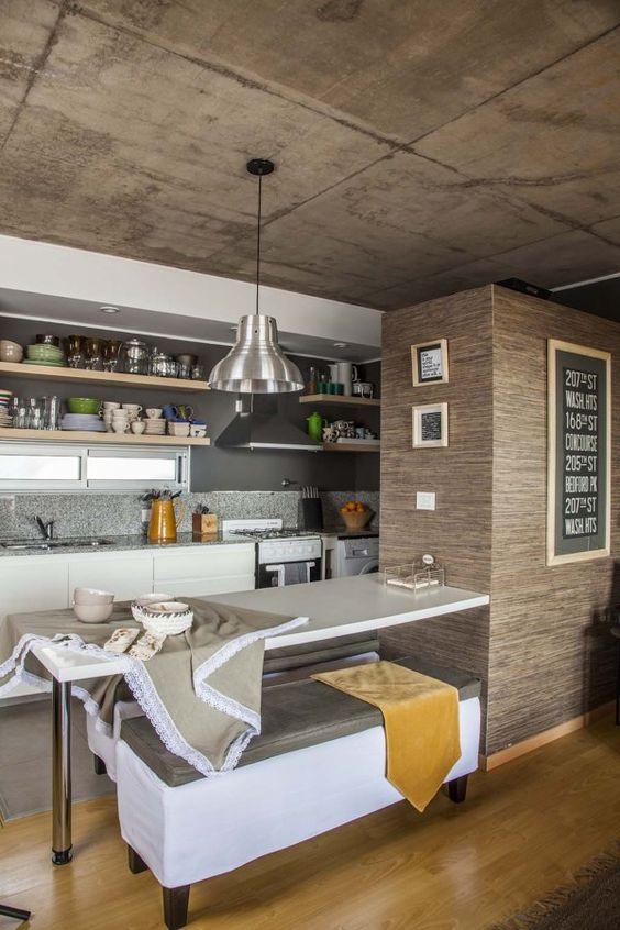 Cocina comedor integrada al living cocinas pinterest for Cocina integrada