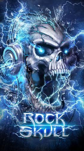 Gambar Keren 3d Bergerak Electric Skull Live Wallpaper For Android Apk Download Download Alan Walker Wa Skull Wallpaper Skull Art Drawing Scary Wallpaper