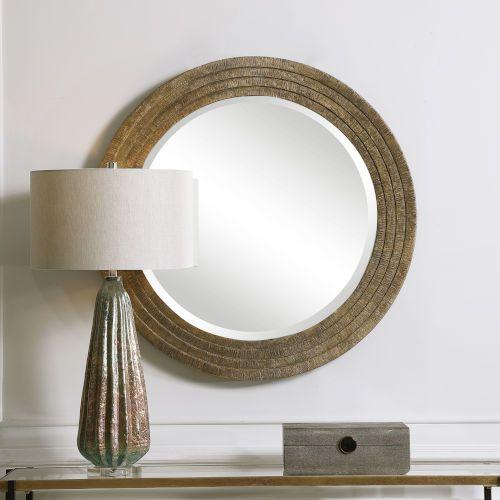 Uttermost Relic Gold 36 Inch Round Mirror 09647 Bellacor Round Gold Mirror Round Mirrors Round Wall Mirror 36 inch round mirror