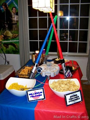 star wars decorations ideas star wars party decorations ideas mad in crafts table. Black Bedroom Furniture Sets. Home Design Ideas