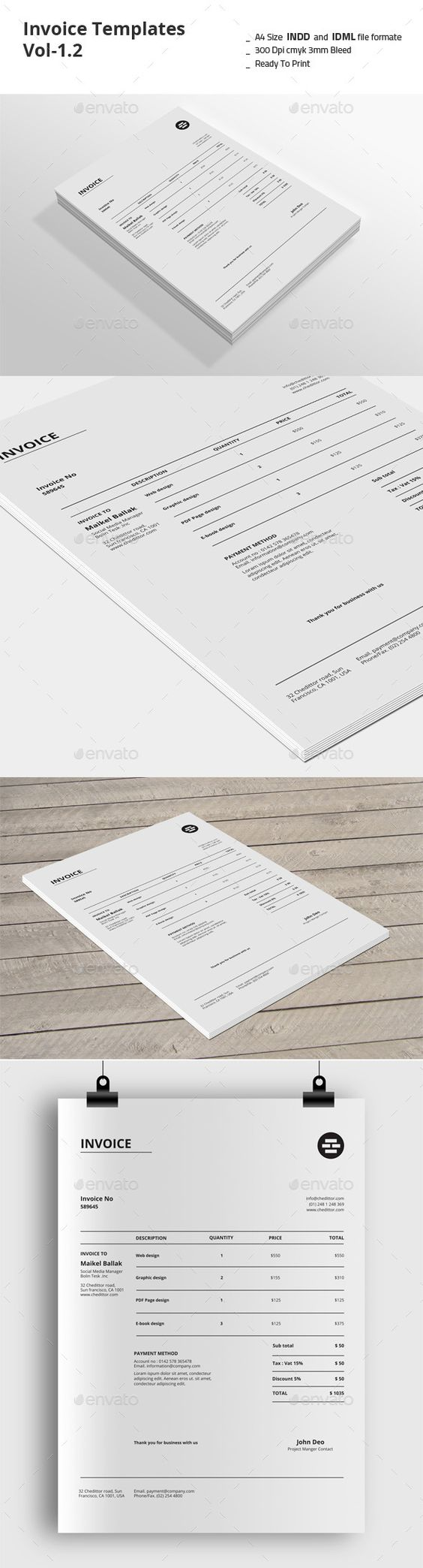 Invoice templates vol 12 invoice template proposals for Https invoice generator com 1