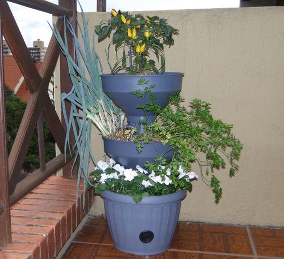 Mini Horta Vertical para apartamento e interior (autoirrigável) Verde Vida