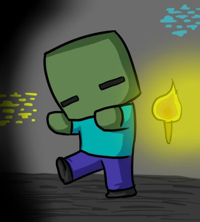 Kawaii deviantart and novelas de suspenso on pinterest - Zombie style minecraft ...