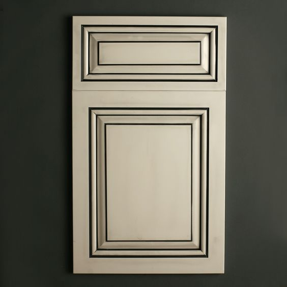 Black Glazed Kitchen Cabinets: Satin White With Black Glaze