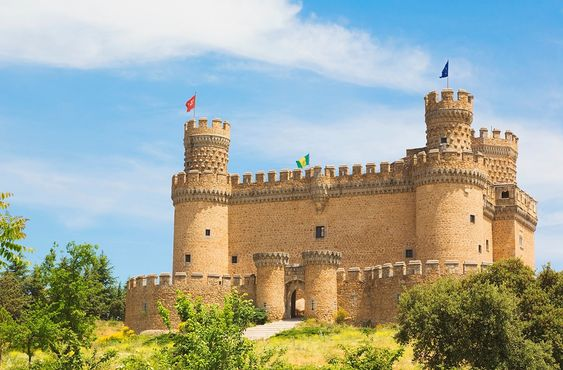 Castillo nuevo de Manzanares el Real (Madrid), España