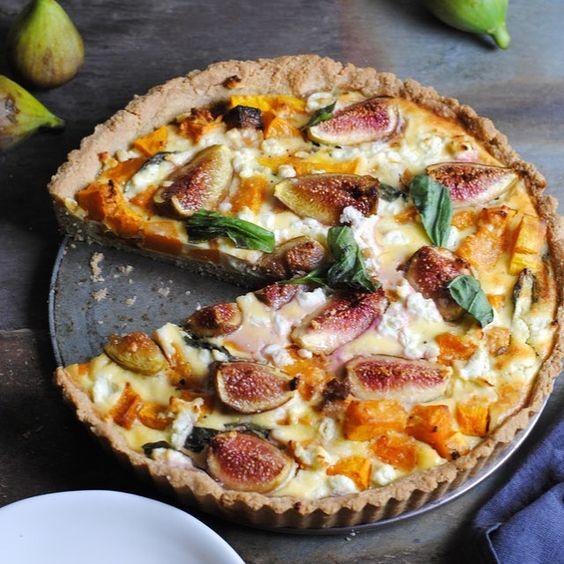 Tarte de figos, abóbora, queijo de cabra e manjericão? O paraíso existe e está…
