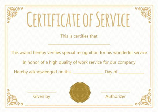 Certificate For 10 Years Of Service Template Award Template Certificate Templates Reward And Recognition