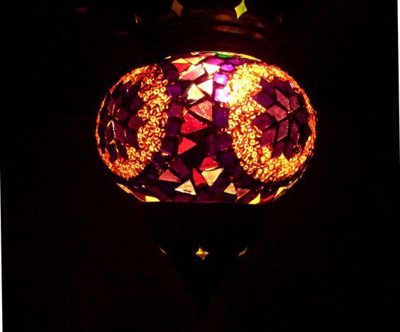 Handmade Stained Glass Mosaic Lantern. $70.00, via Etsy.