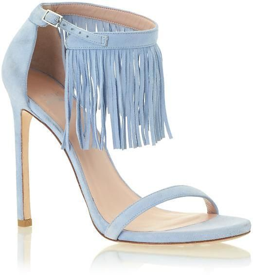 Stuart Weitzman Lovefringe // Powder Blue | | Shoes! | | Pinterest