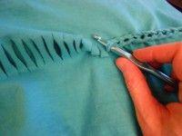 Crochet On T-Shirt Tutorial