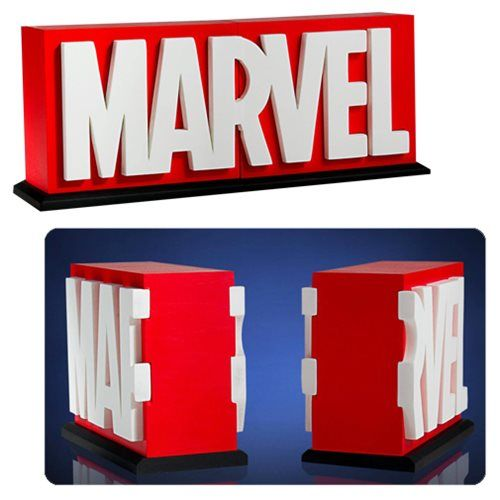 Marvel Logo Bookends - $60 - Comic Book Gifts!