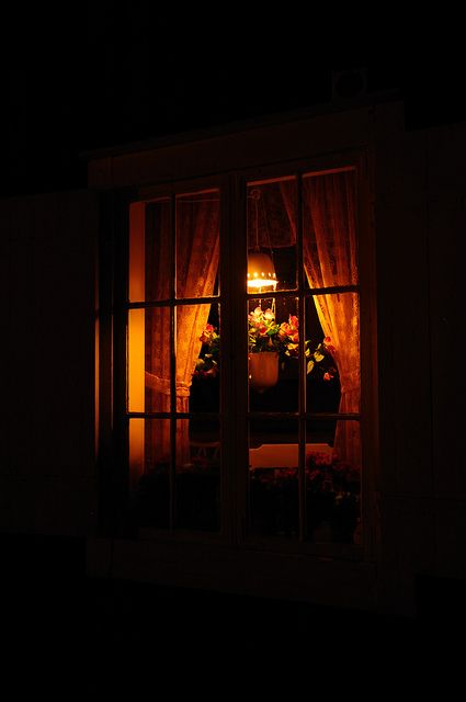 Looking through night windows.....Put A Light in the Window ~ Photo by...?