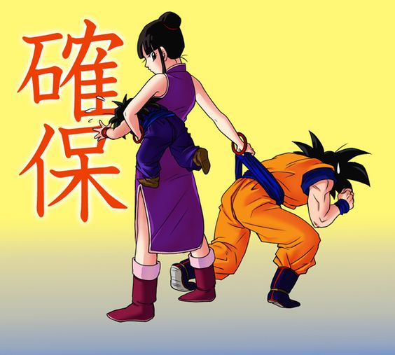 Dragonball z - goku and chi chi