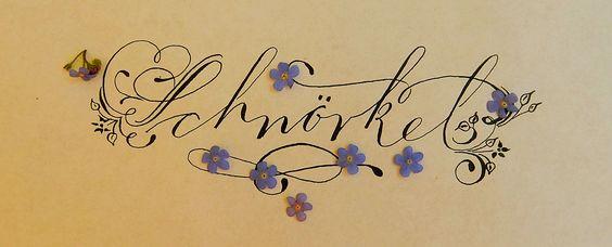 Schnörkel und Verzierungen in der Kalligraphie - unverzichtbar für den…