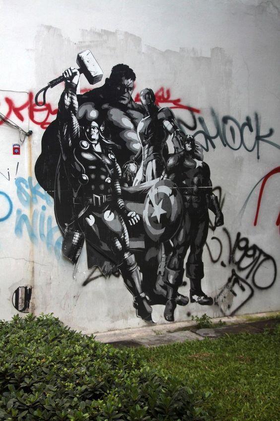 Avengers Graffiti. Awesome!