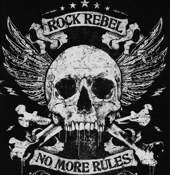 EMP Rock Rebel skull image // no more rules
