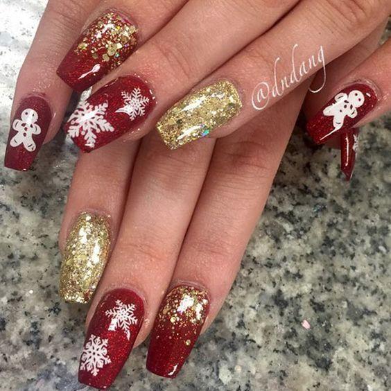 21 Short Christmas Nails Cherrycherrybeauty Com Cute Christmas Nails Mint Nails Festival Nails