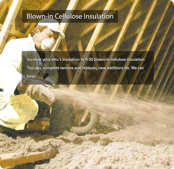 Blown-in Cellulose Insulation - Insulation company Thornhill.