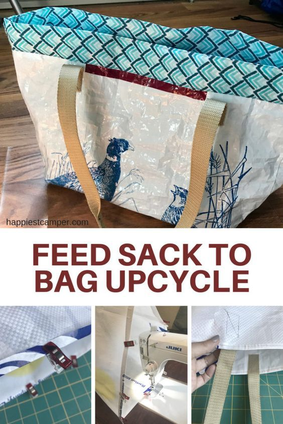 Feed Sack Tote Bag Easy Upcycle