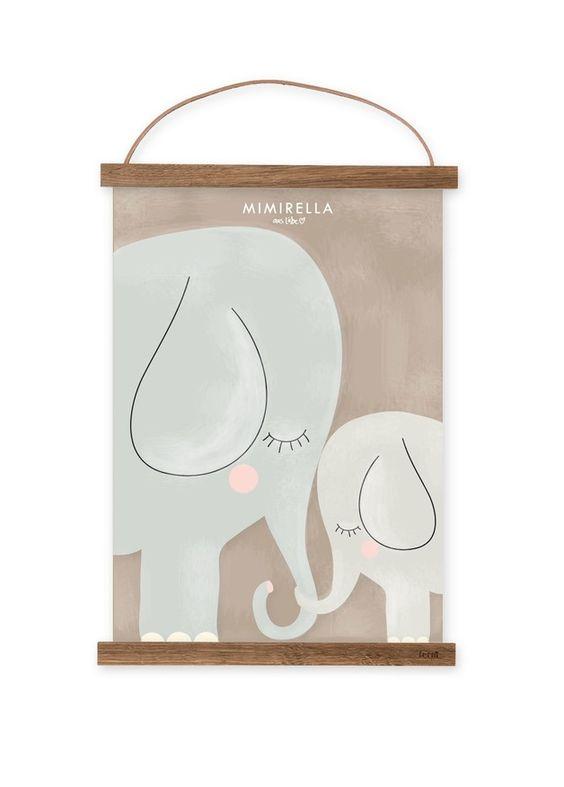 Illustration, gedruckt auf hochwertigem Karton.  Ein liebevoller Hingucker im Kinderzimmer   Das Bild wird ohne Rahmen geliefert, jedoch passt es z.B. perfekt in den Rahmen von Ikea, RIBBA...