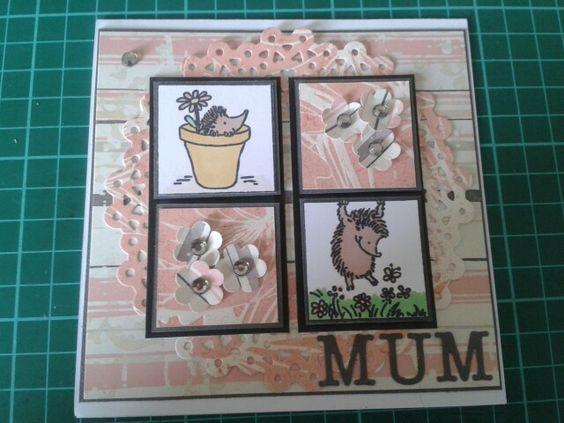 Little Claires hedgehog stamp handmade card